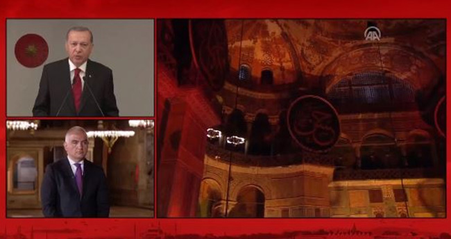 Ayasofya'da Fetih suresi: Cumhurbaşkanı Erdoğan'dan tarihi konuşma