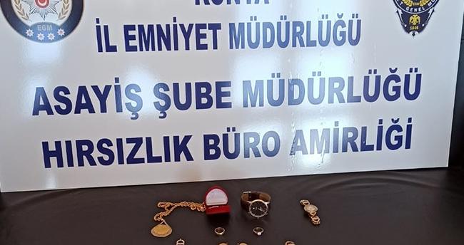 Konya'da bir evden ziynet eşyası ve para çalan şüpheli yakalandı! Komşuları çıktı