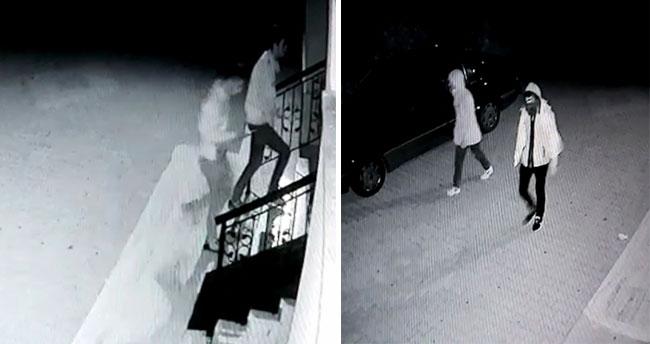 Motosiklet hırsızları kameralara yakalandı