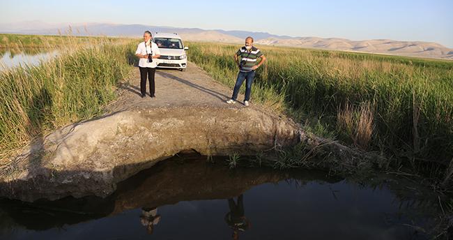 Konya'daki Akgöl Sazlıkları'nda su tutması için yapılan dolgu set tahrip edildi
