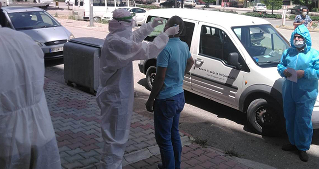 Konya'da 2 apartman daha Kovid-19 tedbirleri kapsamında karantinaya alındı