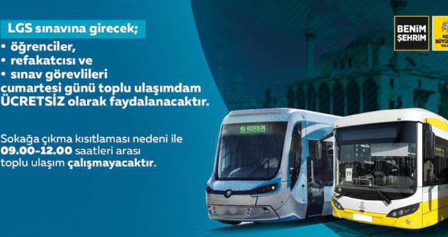 LGS'ye girecek öğrenciler dikkat! Konya'da ulaşım ücretsiz olacak
