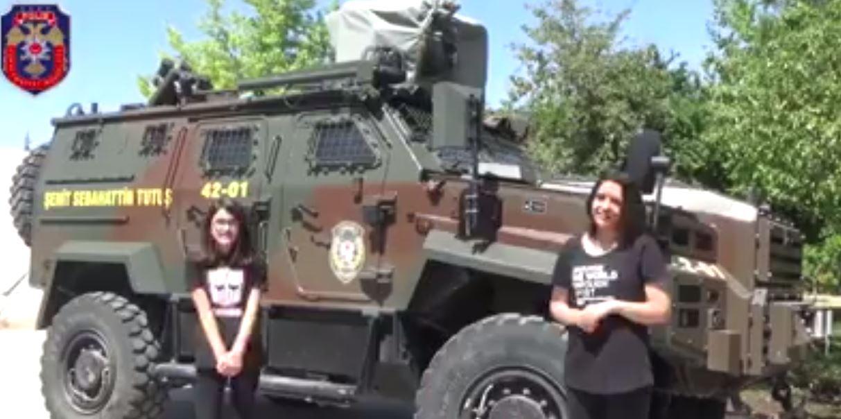 """Sınır ötesindeki polislerimize çocuklarından """"Babalar Günü"""" sürprizi"""