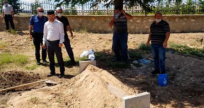 Konya'da bulunan çocuk cesedi defnedildi