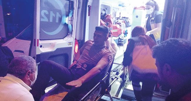 Aksaray'da alkollü sürücü önce bekçiyi ezdi, sonra polis memurunun ayağını kırdı