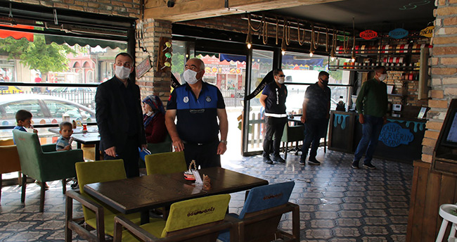 Akşehir'de koronavirüs denetimleri sürüyor