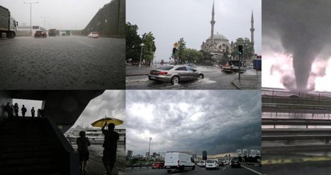 İstanbul'da sağanak, hortum ve sel: 1 ölü