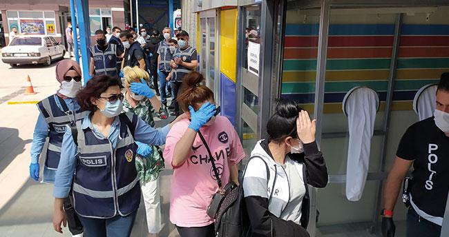 Konya merkezli 2 ilde fuhuş operasyonu! 11 şüpheli yakalandı