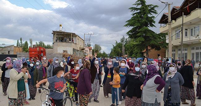 Konya'da mahalleli kömür üretim sahası için kamulaştırma kararına isyan etti!