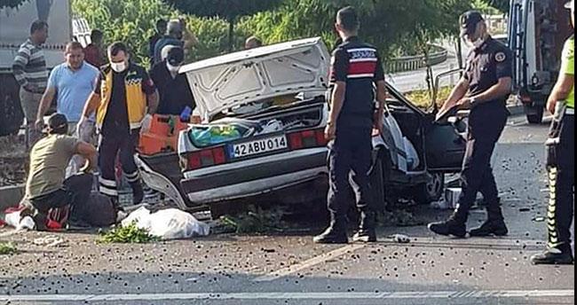 Konya'da feci kaza! Refüje çarpan otomobil takla attı: 3 ölü, 2 yaralı