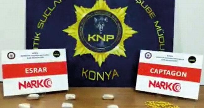 Konya'da uyuşturucu operasyonunda 3 kişi yakalandı