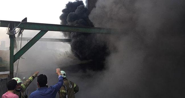 Başakşehir'de fabrika yangını