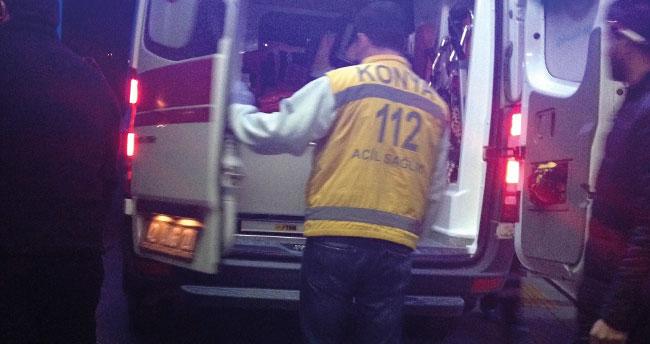 Konya'da saman balyalarını istiflerken düşen genç yaralandı
