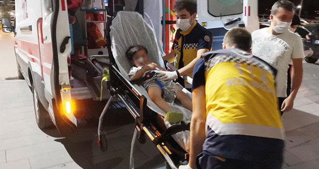 Aksaray'da yanlışlıkla tiner içen çocuk hastanelik oldu