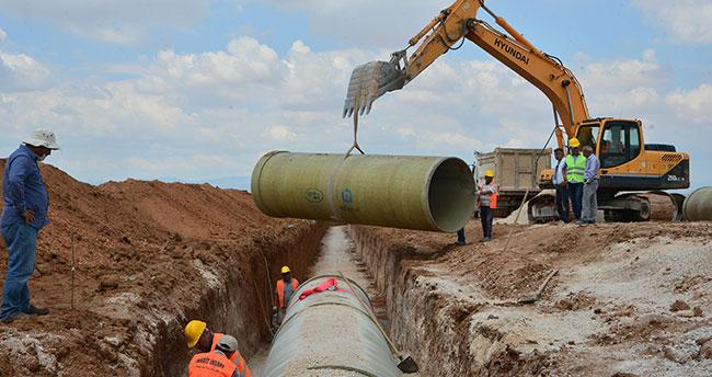 Apa-Hotamış 1,2,3 sulamaları inşaatında ilk kepçe vuruldu