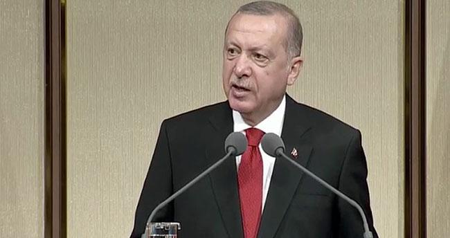 Cumhurbaşkanı Erdoğan: Milletimiz 15 Temmuz'da tarihe altın harflerle geçecek bir zafer kazandı