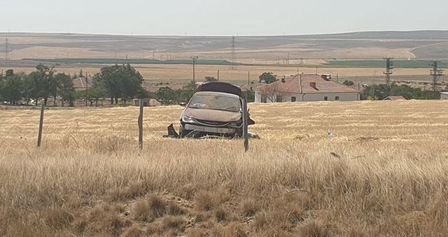 Konya'da yoldan çıkan otomobildeki 2 Suriyeli yaralandı