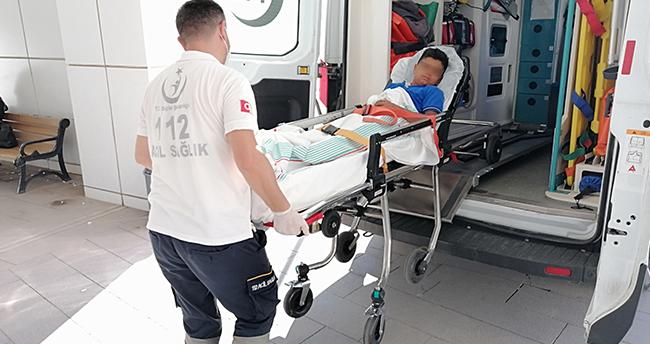 Aksaray'da cam şişede torpil patlatan 2 kardeş yaralandı