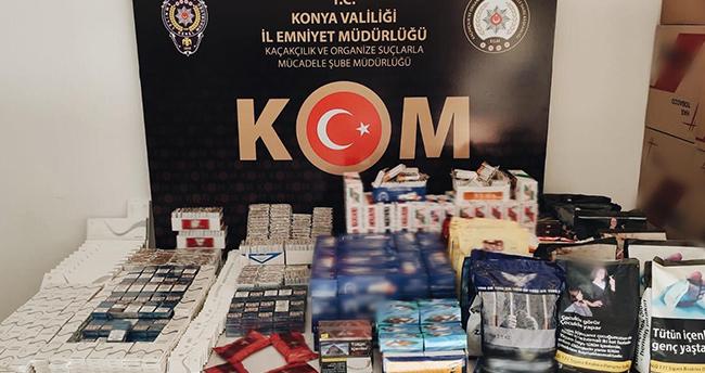 Konya'da 25 bin makaron ele geçirildi