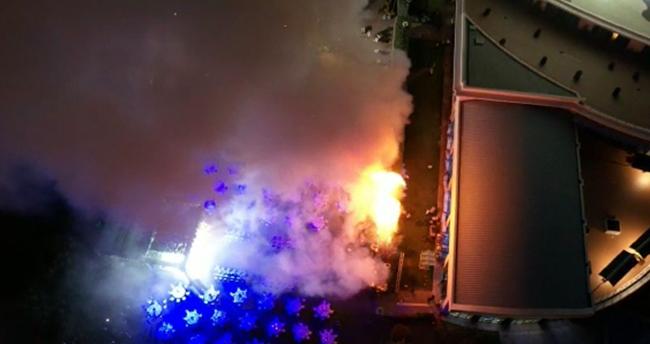 Konya'da düğün yapılan otelin bahçesinde yangın paniği