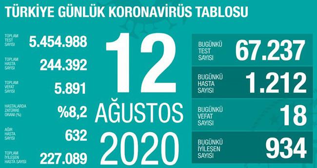 12 Ağustos koronavirüs tablosu! Vaka, ölü sayısı ve son durum açıklandı