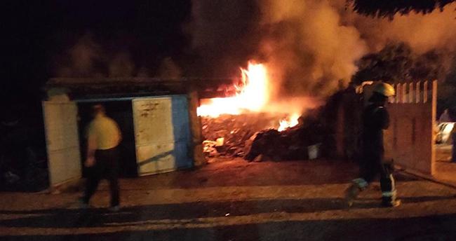 Kulu'da kömürlük yangını