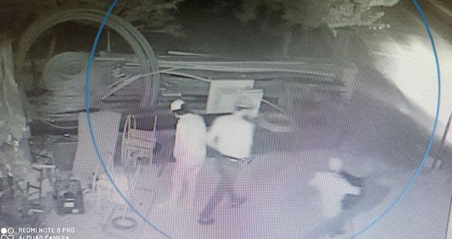 Konya'da boru hırsızlarını güvenlik kamerası ele verdi