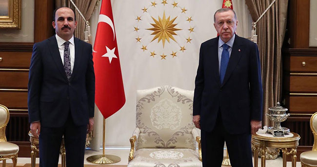 Konya Büyükşehir Belediye Başkanı Altay, Cumhurbaşkanı Erdoğan ile görüştü