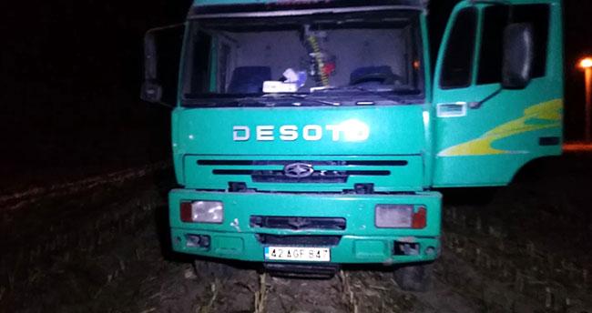 Konya'da kamyon otomobille çarpıştı: 1 yaralı