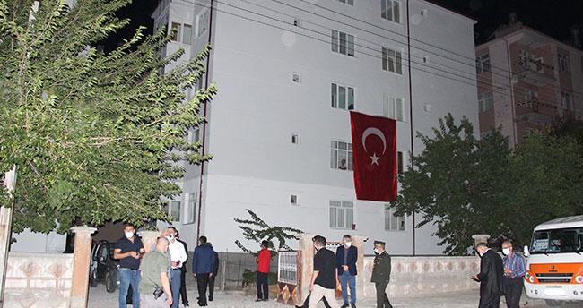 Mersinli şehidin şehadet haberi Karaman'da oturan eşine ulaştı