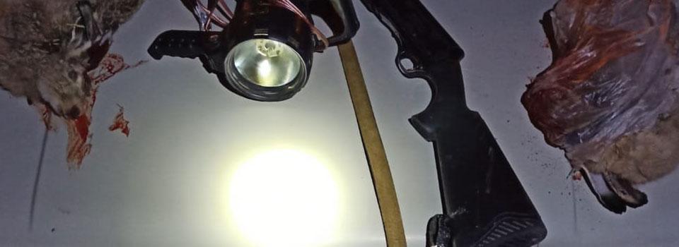 Konya'da far ışığıyla kara avcılığı yapan 3 kişiye 11 bin lira ceza