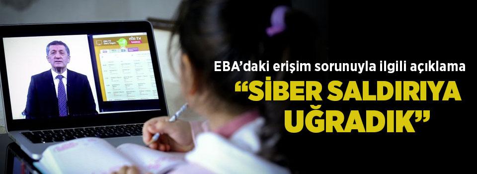 EBA sisteminin çökmesine ilişkin MEB'den açıklama: Siber saldırıya uğradık