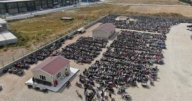 Konya'da 4 bin 5 motosiklet trafikten men edildi