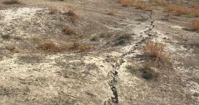 AFAD Tuzlukçu' daki yer yarığını inceledi