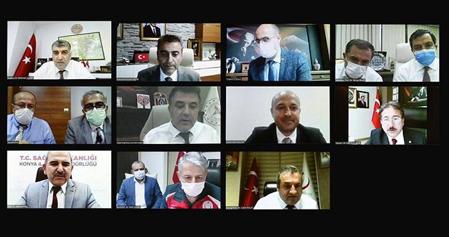 Bakan Koca, Konya'nın da bulunduğu 11 ilin sağlık müdürü ile görüştü