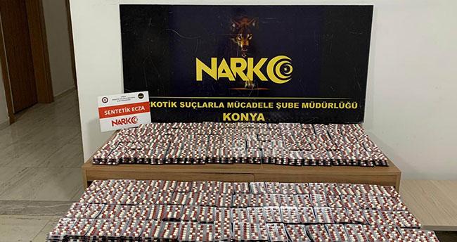 Konya'da 54 bin 852 adet uyuşturucu hap ele geçirildi