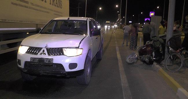 Konya'da kamyonet ile elektrikli bisiklet çarpıştı: 2 yaralı