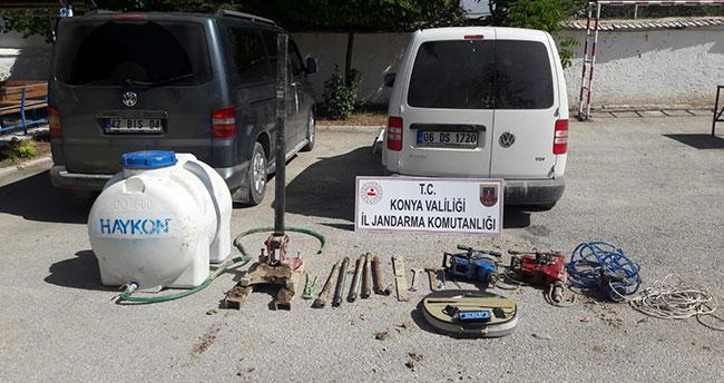 Konya'da define kazısı faciayla bitti! Kaçak kazı yapan 6 kişiden 1'i, elektrik akımına kapılarak öldü