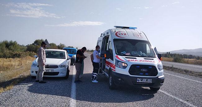 Konya'da otomobil kargo aracıyla çarpıştı: 1 yaralı