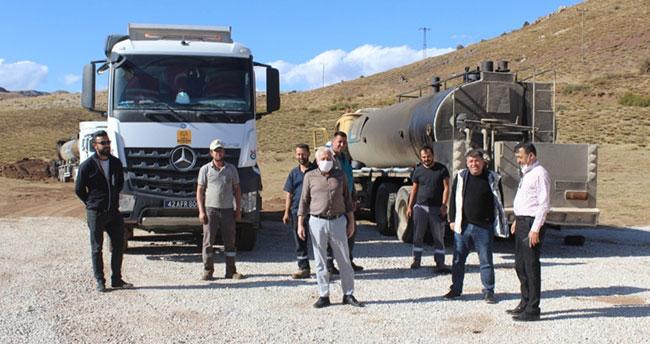 Bozkır'da asfaltlama çalışmaları devam ediyor