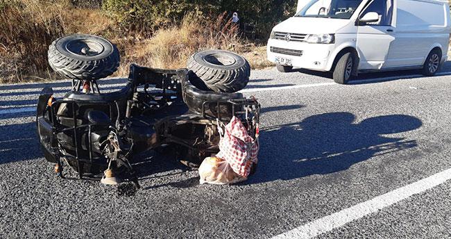 Konya'da ATV, park halindeki minibüse çarptı: 1 ağır yaralı