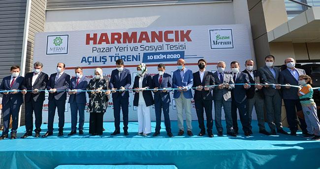 Bakan Kurum Harmancık Kapalı Pazar Yeri ve Sosyal Tesisini açtı