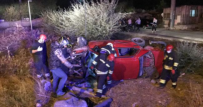 Konya'da 2 otomobilin çarpıştığı kazada 9 kişi yaralandı