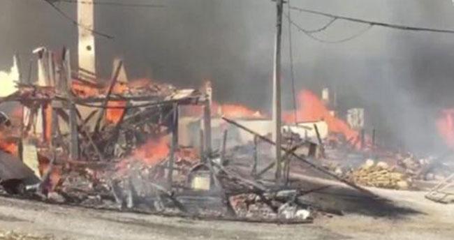 Bolu'nun Kuzfındık köyünde yangın çıktı: Evler yanıyor
