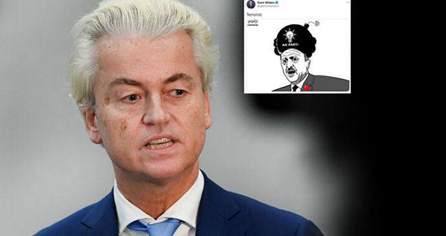 Geert Wilders'ten skandal paylaşım! Cumhurbaşkanı Erdoğan'ı hedef aldı