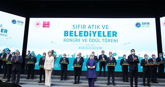 Ankara'da düzenlenen törende Konya'dan 2 belediyeye çevre ödülü