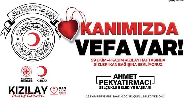 Selçuklu Belediyesi ve Kızılay'dan kan bağışı kampanyası