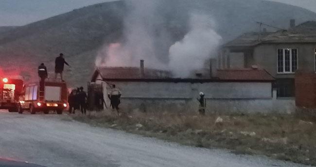 Konya'da müştemilatta çıkan yangın söndürüldü