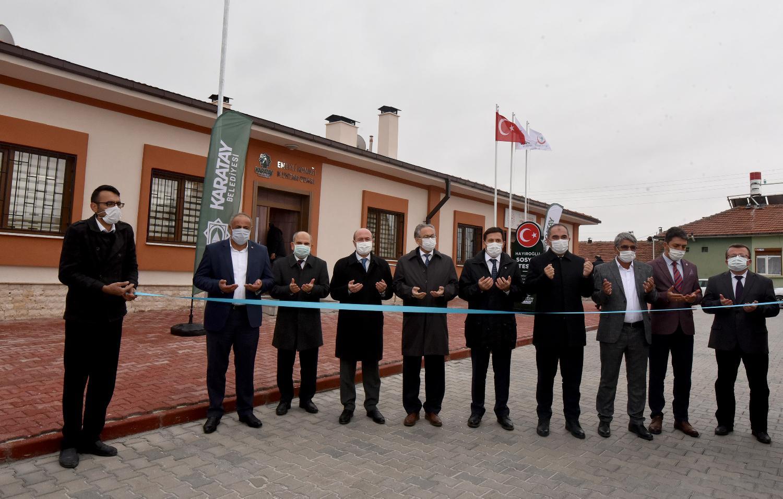 Hayıroğlu Mahallesinde sosyal tesis hizmete açıldı