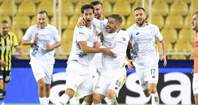 Konyaspor Fenerbahçe deplasmanından 3 puanla döndü